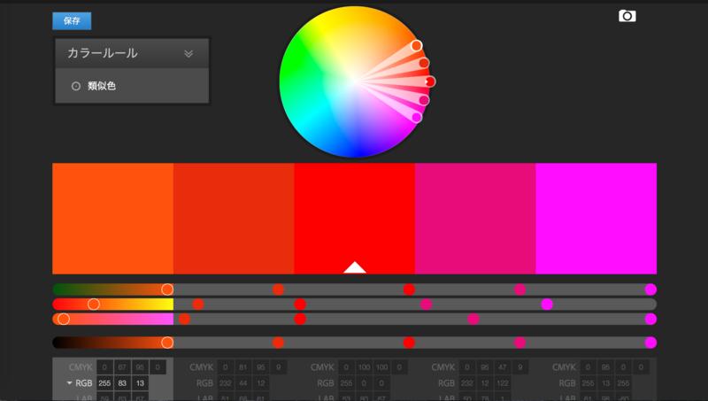 adobeのカラーコード抽出ツール
